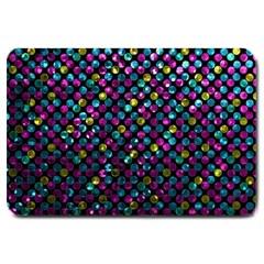 Polka Dot Sparkley Jewels 2 Large Doormat  by MedusArt