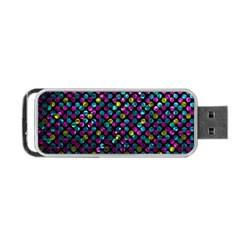 Polka Dot Sparkley Jewels 2 Portable Usb Flash (one Side) by MedusArt