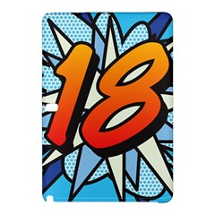 Comic Book 18 Blue Samsung Galaxy Tab Pro 12.2 Hardshell Case by ComicBookPOP