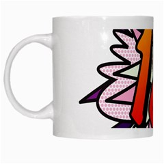 Comic Book 18 Pink White Mugs by ComicBookPOP