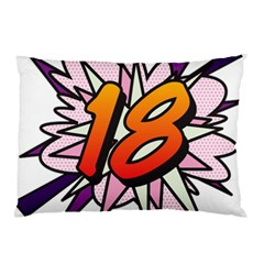 Comic Book 18 Pink Pillow Cases by ComicBookPOP