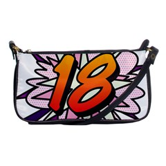 Comic Book 18 Pink Shoulder Clutch Bags by ComicBookPOP