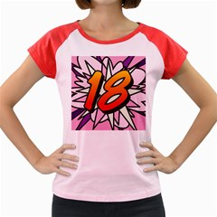 Comic Book 18 Pink Women s Cap Sleeve T-Shirt by ComicBookPOP