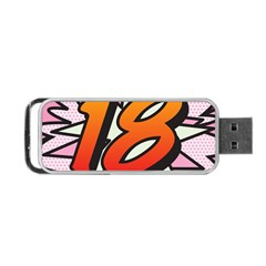 Comic Book 18 Pink Portable Usb Flash (two Sides)