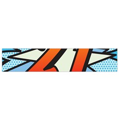 Comic Book 21 Blue Flano Scarf (Small)  by ComicBookPOP