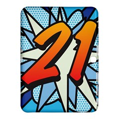 Comic Book 21 Blue Samsung Galaxy Tab 4 (10 1 ) Hardshell Case  by ComicBookPOP