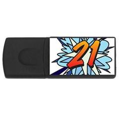 Comic Book 21 Blue Usb Flash Drive Rectangular (4 Gb)  by ComicBookPOP