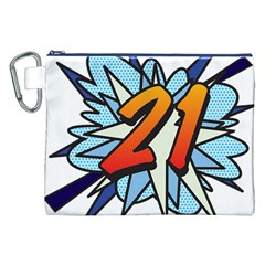 Comic Book 21 Blue Canvas Cosmetic Bag (xxl)  by ComicBookPOP