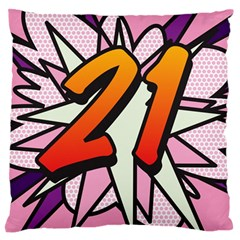 Comic Book 21 Pink Standard Flano Cushion Cases (two Sides)  by ComicBookPOP