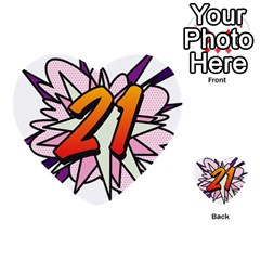 Comic Book 21 Pink  Multi Purpose Cards (heart)  by ComicBookPOP