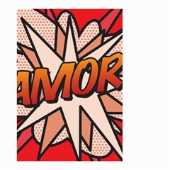 Comic Book Amor!  Small Garden Flag (two Sides) by ComicBookPOP