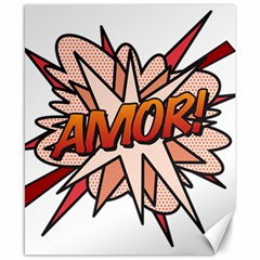 Comic Book Amor! Canvas 8  X 10  by ComicBookPOP