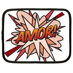 Comic Book Amor! Netbook Case (xl)  by ComicBookPOP