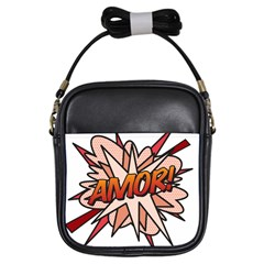 Comic Book Amor! Girls Sling Bags by ComicBookPOP