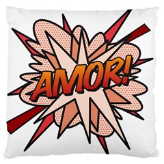 Comic Book Amor! Large Cushion Cases (two Sides)  by ComicBookPOP