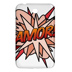 Comic Book Amor! Samsung Galaxy Tab 3 (7 ) P3200 Hardshell Case  by ComicBookPOP