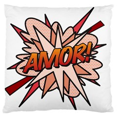 Comic Book Amor! Standard Flano Cushion Cases (one Side)  by ComicBookPOP