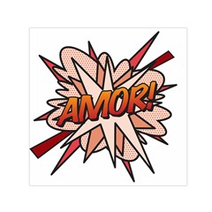 Comic Book Amor! Small Satin Scarf (square)  by ComicBookPOP