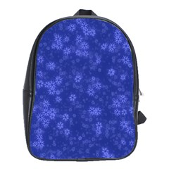 Snow Stars Blue School Bags (xl)  by ImpressiveMoments