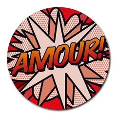 Comic Book Amour!  Round Mousepads by ComicBookPOP