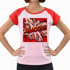 Comic Book Amour!  Women s Cap Sleeve T Shirt by ComicBookPOP