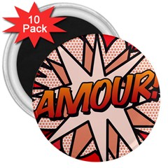 Comic Book Amour!  3  Magnets (10 pack)  by ComicBookPOP