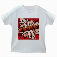Comic Book Amour!  Kids White T-Shirts by ComicBookPOP