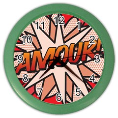 Comic Book Amour!  Color Wall Clocks by ComicBookPOP