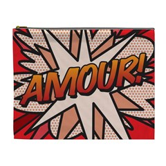 Comic Book Amour!  Cosmetic Bag (xl) by ComicBookPOP