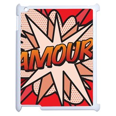 Comic Book Amour!  Apple Ipad 2 Case (white) by ComicBookPOP