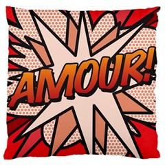 Comic Book Amour!  Large Cushion Cases (one Side)  by ComicBookPOP