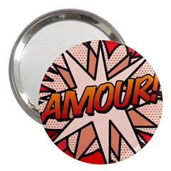 Comic Book Amour!  3  Handbag Mirrors by ComicBookPOP