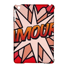 Comic Book Amour!  Apple iPad Mini Hardshell Case (Compatible with Smart Cover) by ComicBookPOP