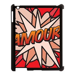 Comic Book Amour!  Apple Ipad 3/4 Case (black) by ComicBookPOP
