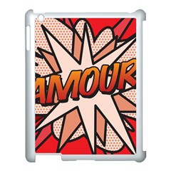 Comic Book Amour!  Apple iPad 3/4 Case (White) by ComicBookPOP