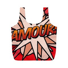 Comic Book Amour!  Full Print Recycle Bags (m)  by ComicBookPOP