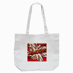 Comic Book Amour!  Tote Bag (white)  by ComicBookPOP