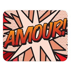 Comic Book Amour!  Double Sided Flano Blanket (large)  by ComicBookPOP