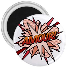 Comic Book Amour! 3  Magnets by ComicBookPOP