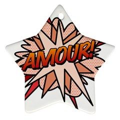 Comic Book Amour! Ornament (Star)  by ComicBookPOP