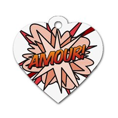 Comic Book Amour! Dog Tag Heart (Two Sides) by ComicBookPOP
