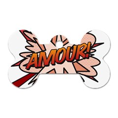 Comic Book Amour! Dog Tag Bone (two Sides) by ComicBookPOP