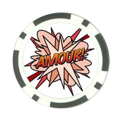 Comic Book Amour! Poker Chip Card Guards by ComicBookPOP