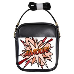 Comic Book Amour! Girls Sling Bags by ComicBookPOP