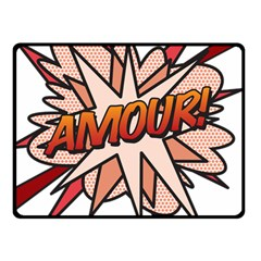 Comic Book Amour! Fleece Blanket (Small) by ComicBookPOP
