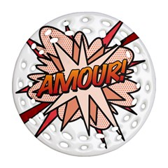 Comic Book Amour! Round Filigree Ornament (2Side) by ComicBookPOP