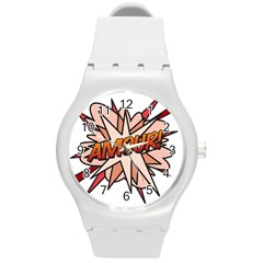 Comic Book Amour! Round Plastic Sport Watch (m) by ComicBookPOP