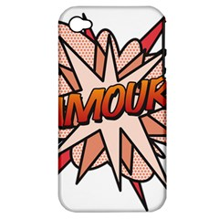 Comic Book Amour! Apple Iphone 4/4s Hardshell Case (pc+silicone) by ComicBookPOP