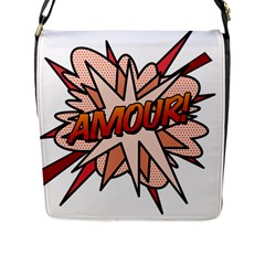 Comic Book Amour! Flap Messenger Bag (l)  by ComicBookPOP
