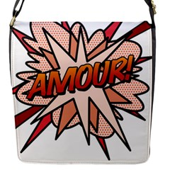 Comic Book Amour! Flap Messenger Bag (s) by ComicBookPOP